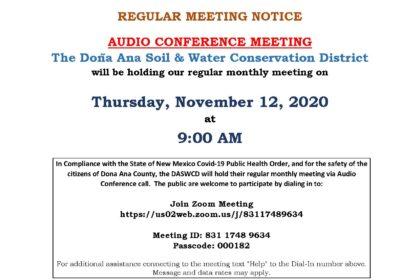 11 DASWCD Regular Meeting Notice 11-12-20