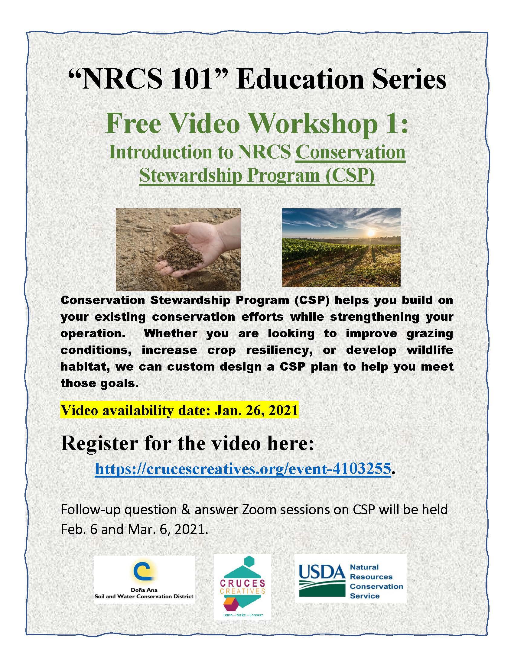 NRCS 101 CSP Flier
